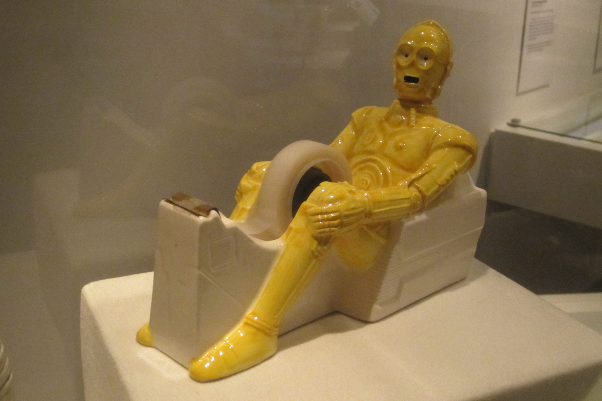 C-3PO tape dispenser at Museum of the Moving Image