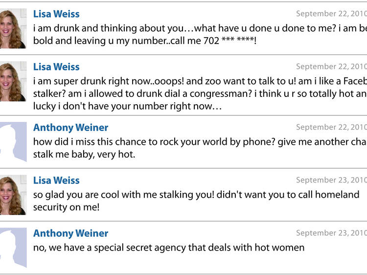 Anthony Weiner's sexting transcript at Museum of Sex (MoSex)