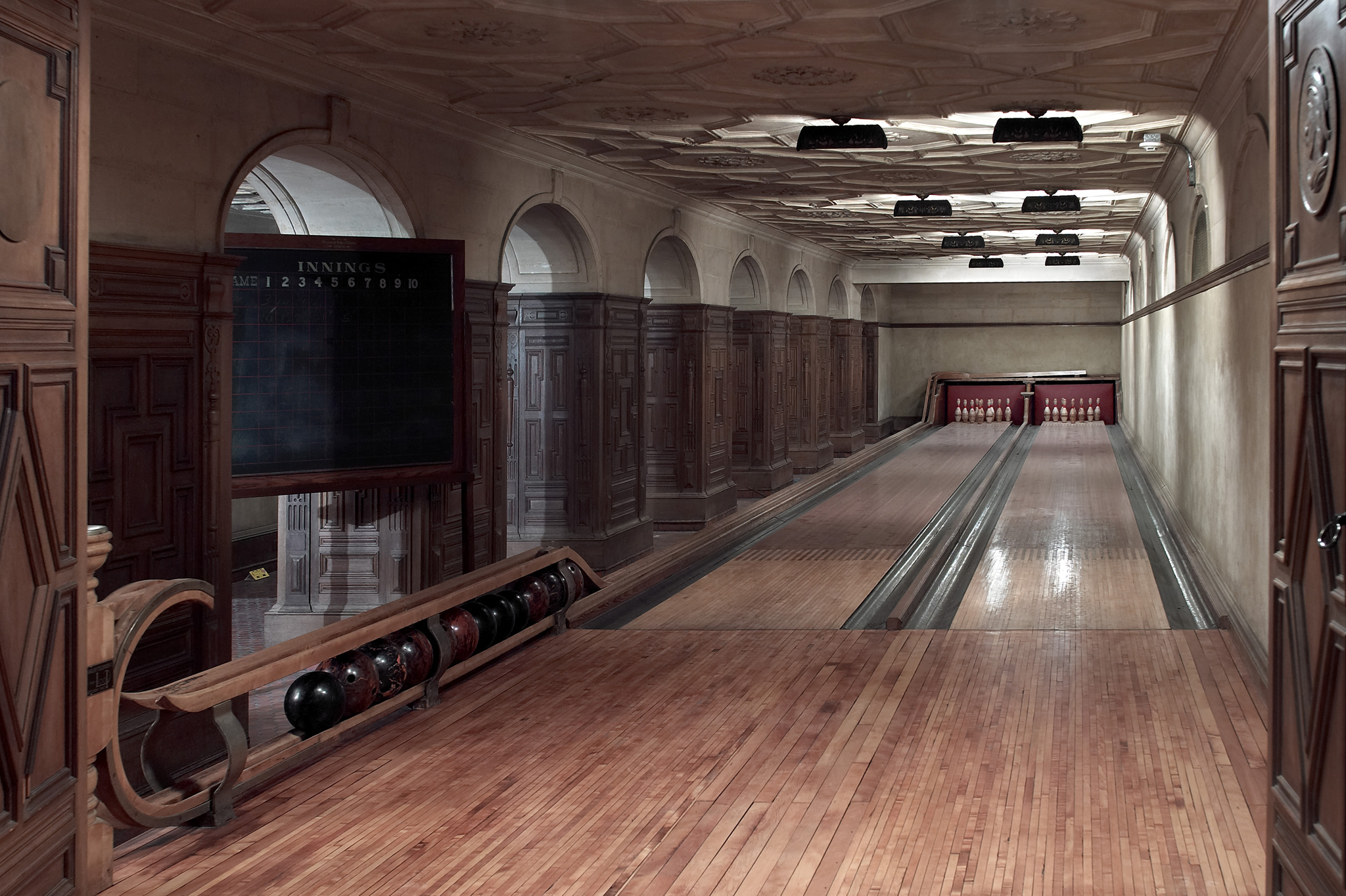 Go bowling in the Frick Collection basement