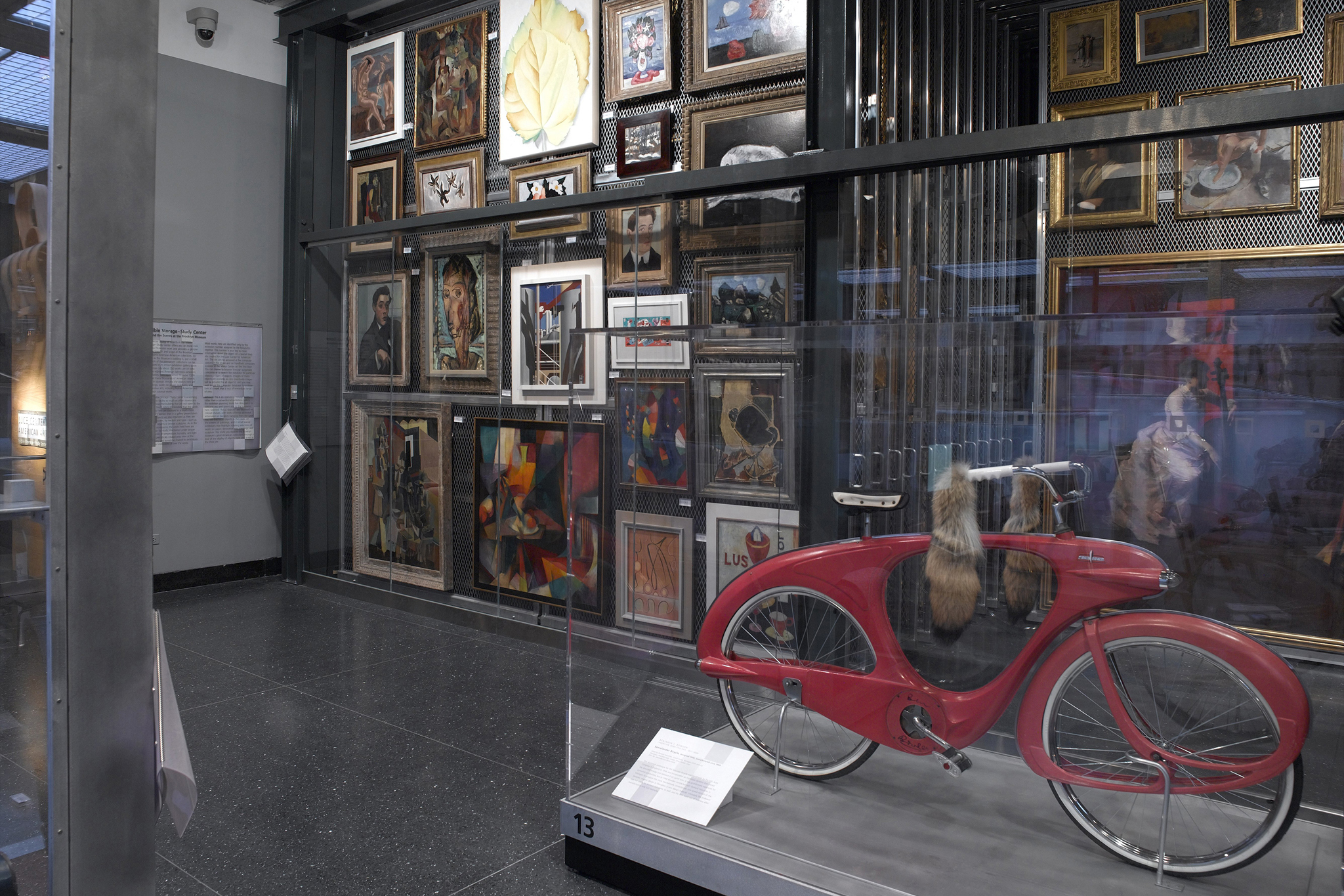 The Visible Storage/Study Center, The Luce Center for American Art installation view.