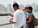 Fishing at Hudson River Park