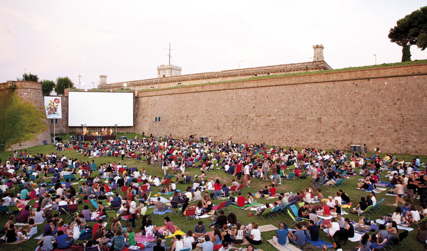 Cinema a la fresca a Barcelona