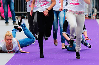 Gay Pride 2014: High-heel race