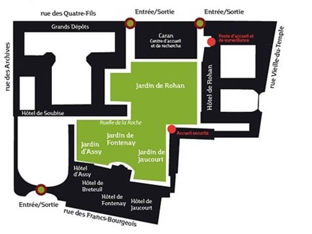 (Plan des jardins des Archives)