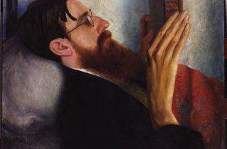 'Lytton Strachey', 1916 (by Dora Carrington)