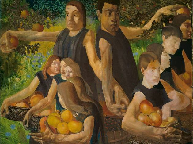 'Apple Gatherers', 1912-13 (by Stanley Spencer)