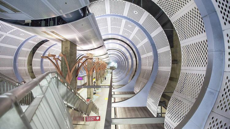Sheila Klein  Underground Girl; Architect: Dworsky Associates (now CannonDworsky) - Hollywood/Highland Station