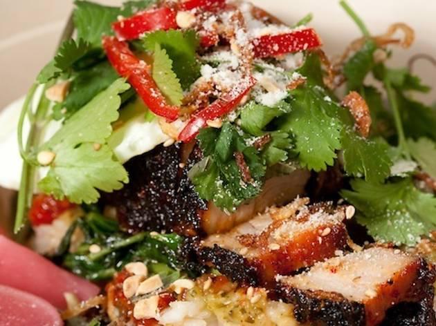 Chego, rice bowl, chubby pork