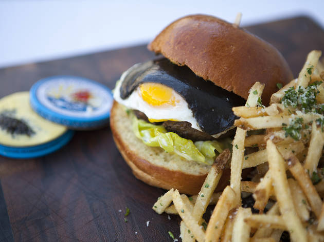 Caviar burger at Petrossian