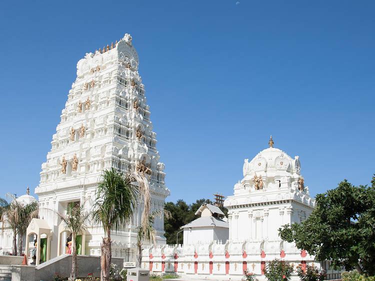 Admire the architecture of the Malibu Hindu Temple