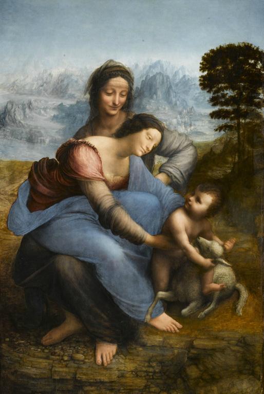 'Sainte-Anne' de Léonard de VInci au Louvre