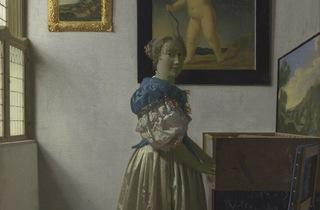 'A Young Woman standing…' (by Johannes Vermeer)
