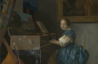 'A Young Woman seated…' (by Johannes Vermeer)