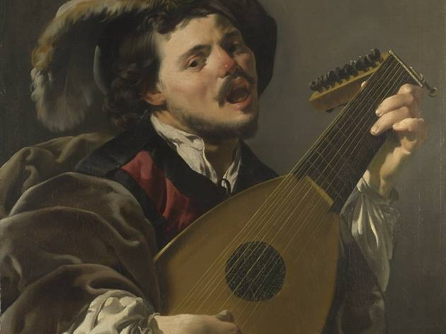 'A Man playing a Lute' (by Hendrick ter Brugghen )