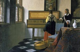 'The Music Lesson', 1662-63 (by Johannes Vermeer)