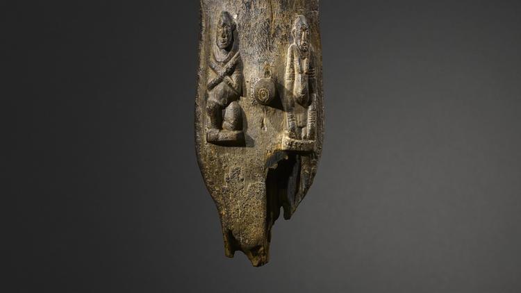 Statue anthropomorphe (détail), c. Xe siècle / © musée du quai Branly / Photo : Hughes Dubois