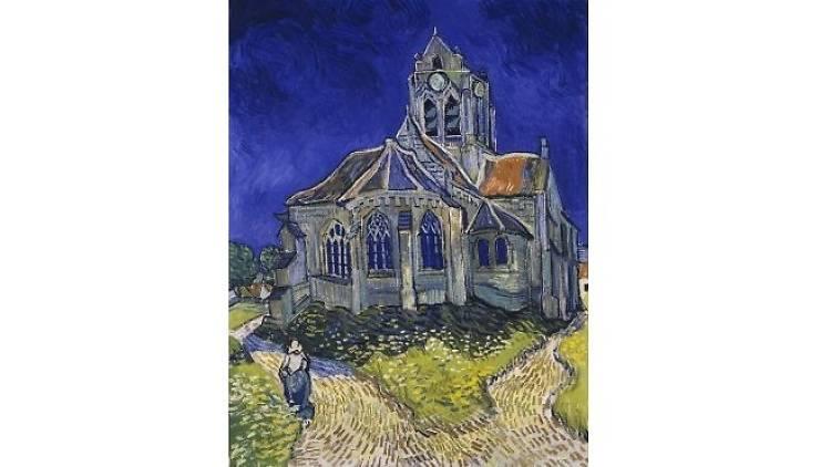 Vincent Van Gogh, 'L'Eglise d'Auvers-sur-Oise, vue du chevet', juin 1890