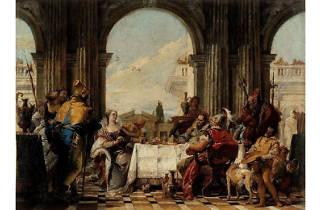 (Giambattista Tiepolo, 'Le Banquet de Cléopâtre', c. 1742-43 / ©Philippe Ladet / Musée Cognacq-Jay / Roger-Viollet)