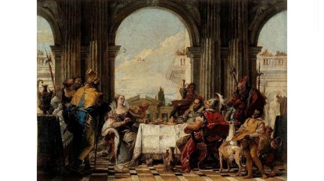 'Le Banquet de Cléopâtre' de Tiepolo, musée Cognacq-Jay