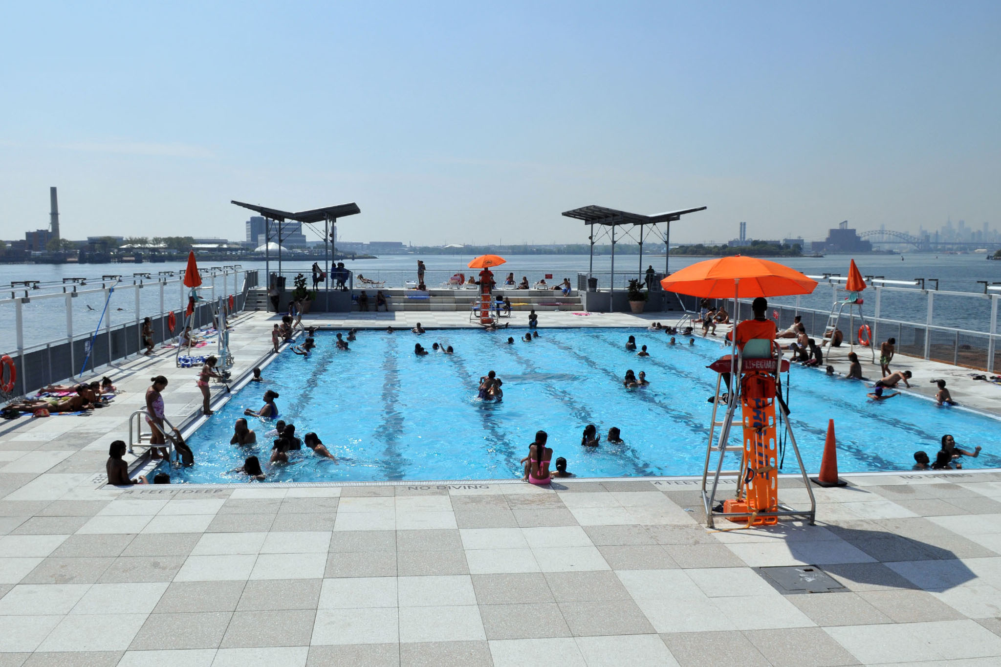 Public swimming pools in NYC