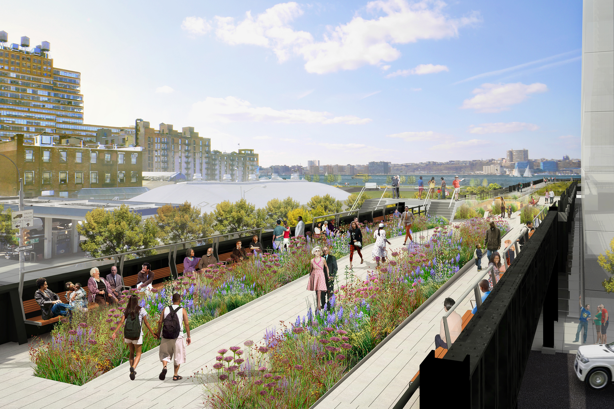 High Line at the Rail Yards