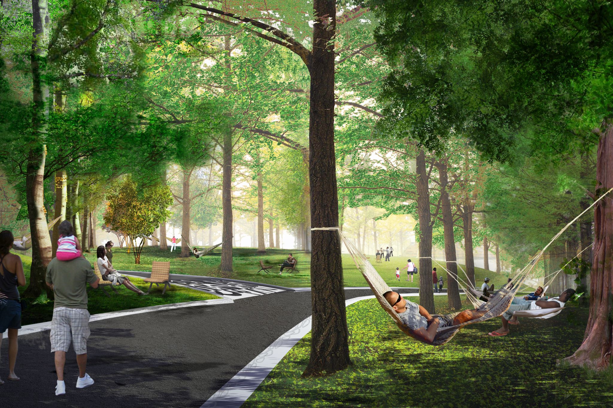 Rendering of Hammock Grove at Governors Island
