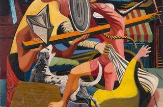 Philip Guston ('Gladiators', 1940)