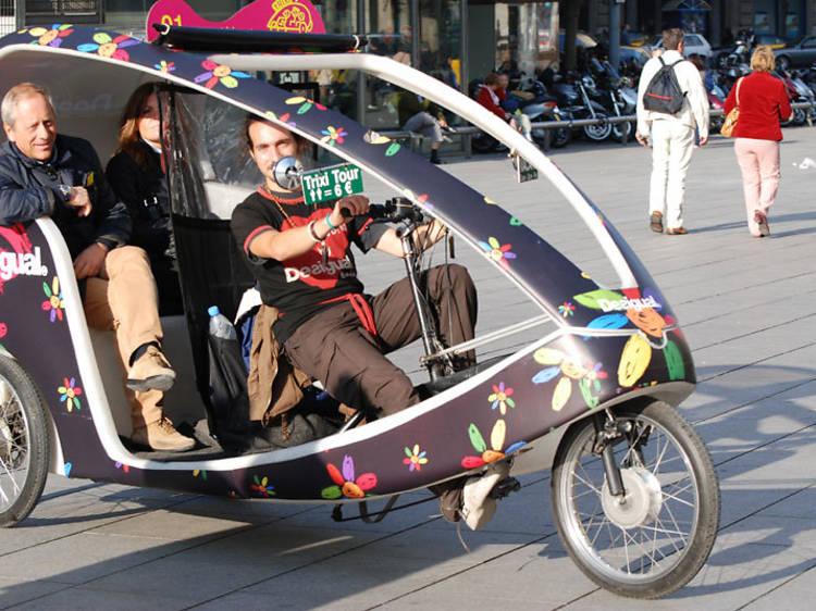 Prova-ho amb un conductor de Rickshaw
