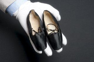 Princess Alice's baby shoes c1843