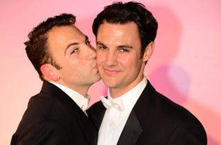 Anthony J. Wilkinson and Brandon Goins in My Big Gay Italian Wedding