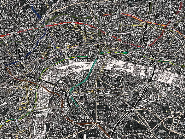 Stephen Walter, detail of 'London Subterranea'