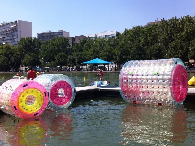 Le bassin de La Villette en fête
