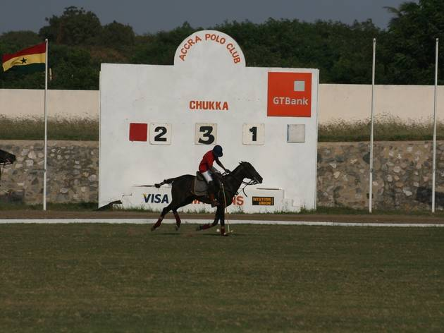 Horse play at Accra Polo Club
