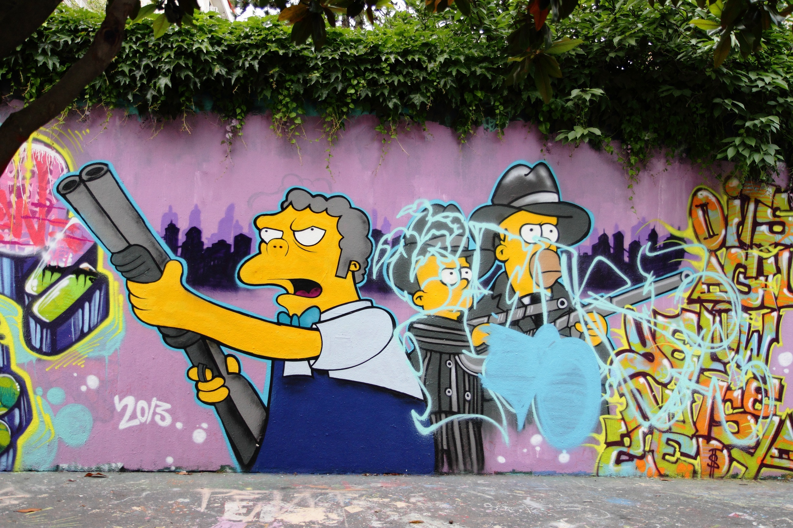 Street Art Simpsons