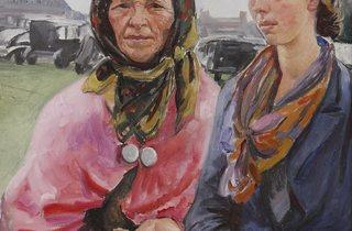 Laura Knight ('Gypsies at Ascot', 1933)