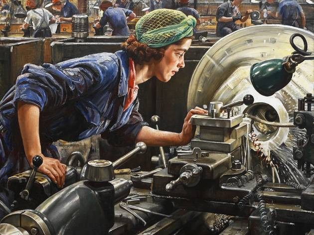 Laura Knight ('Ruby Loftus Screwing a Breech Ring', 1943)
