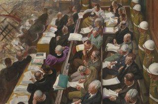 Laura Knight ('The Nuremberg Trial', 1946)