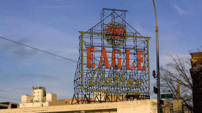 Eagle Clothes sign in Gowanus, Brooklyn