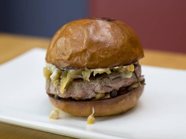 Duck burger at Umami Burger