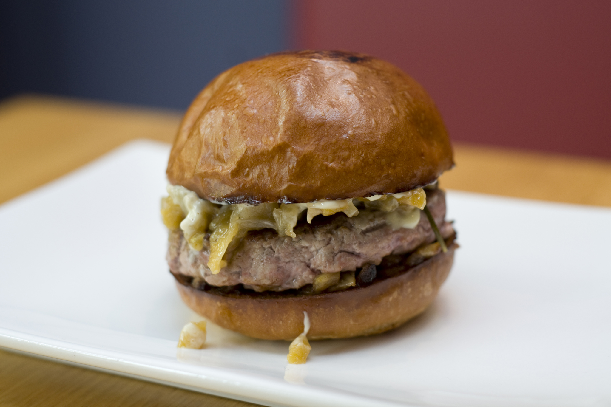 <p>Duck burger at Umami Burger</p>