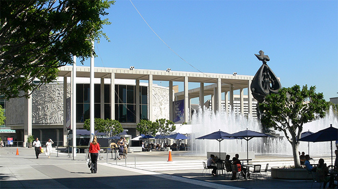 Los Angeles Music Center, view towards the Mark Taper Forum.