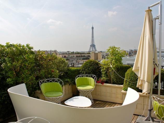 Terrasse de l'hôtel Raphaël © C. Griffoulières - Time Out Paris