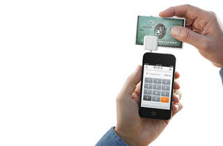 Square's plug-in card reader accepts credit cards anywhere