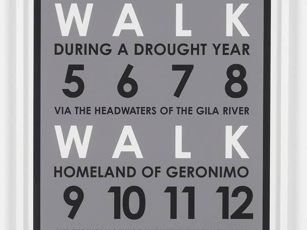 Hamish Fulton ('Walk Walk Walk Walk. New Mexico. 2006')