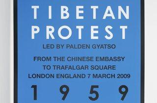 Hamish Fulton ('Tibetan protest. London. 2009