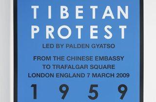 Hamish Fulton ('Tibetan protest. London. 2009')