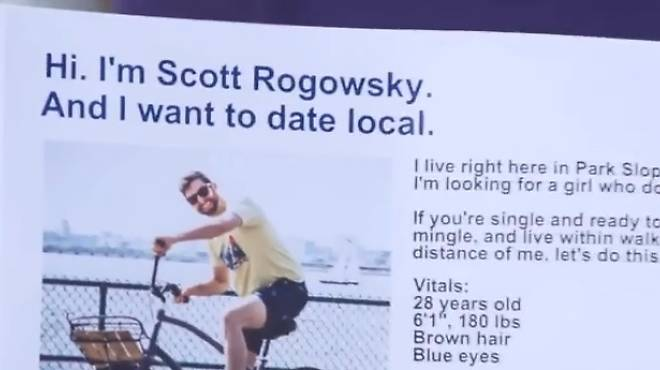 Scott Rogowsky's Park Slope-centric dating ad