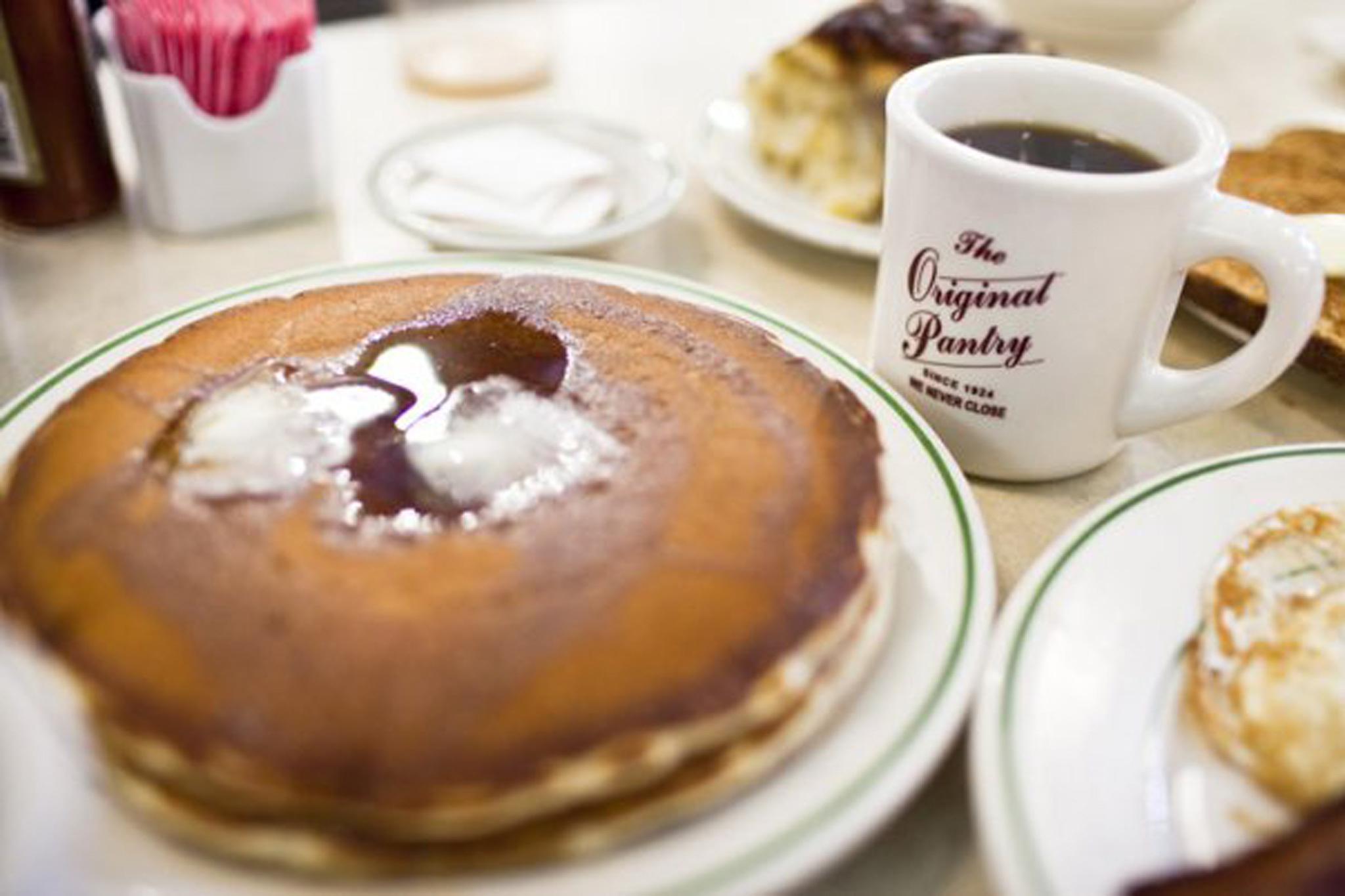 original pantry cafe, diner, pancakes, breakfast