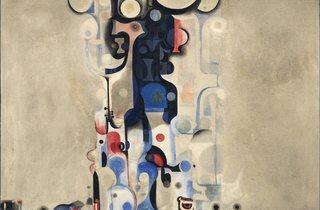Ibrahim El-Salahi ('Vision of the Tomb', 1965 )