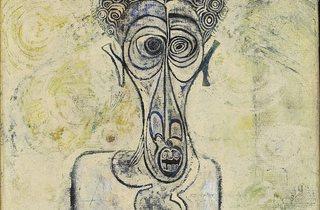 Ibrahim El-Salahi ('Self-Portrait of Suffering', 1961)